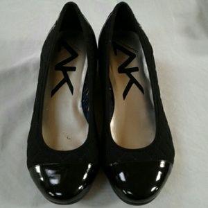 Anne Klein Sport Black Wedge Heels  8 M